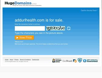 Thumbshot of Addurlhealth.com