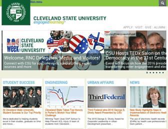Main page screenshot of csuohio.edu