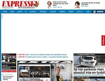 Main page screenshot of expressen.se