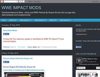 wwe-impactmods.blogspot.com screenshot