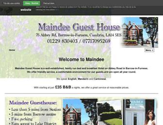 maindeeguesthouse.co.uk screenshot