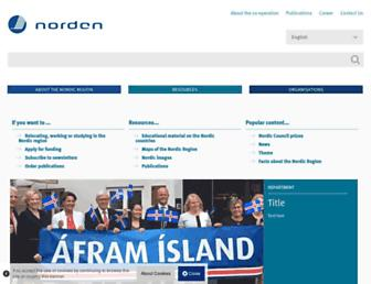 Main page screenshot of norden.org