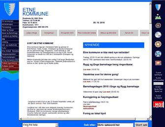 Main page screenshot of mittdistrikt.no