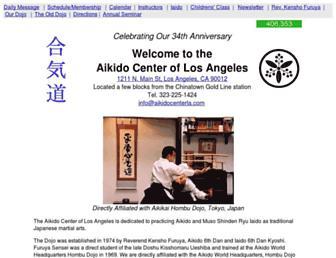 aikidocenterla.com screenshot
