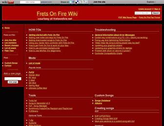 fretsonfire.wikidot.com screenshot
