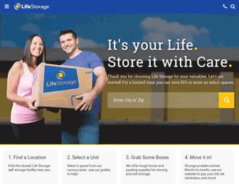 lifestorage.com screenshot