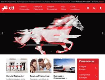 Main page screenshot of ctt.pt