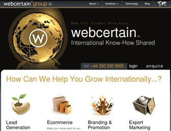 Thumbshot of Webcertain.com