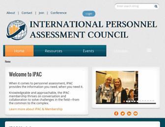 Main page screenshot of ipacweb.org