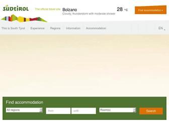 Main page screenshot of suedtirol.info