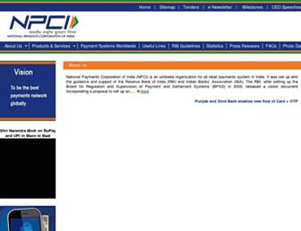 npci.org.in screenshot