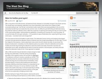 Main page screenshot of devblog.the-west.net