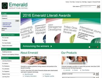 emeraldgrouppublishing.com screenshot