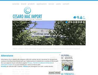 cesaromacimport.com screenshot