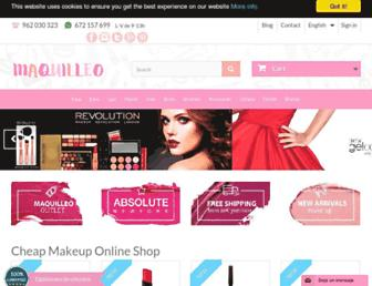 maquilleo.com screenshot