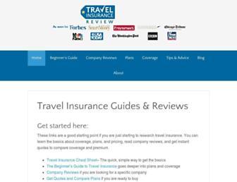 travelinsurancereview.net screenshot