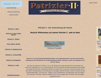Main page screenshot of rjosephs.de