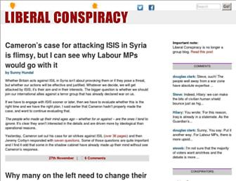 Main page screenshot of liberalconspiracy.org