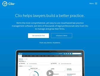 clio.com screenshot