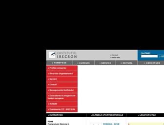 irecson.ro screenshot