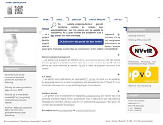 Main page screenshot of croesconsultants.nl