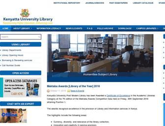 library.ku.ac.ke screenshot