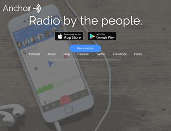 anchor.fm screenshot