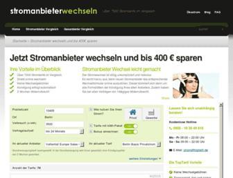 Thumbshot of Stromanbieterwechseln.org