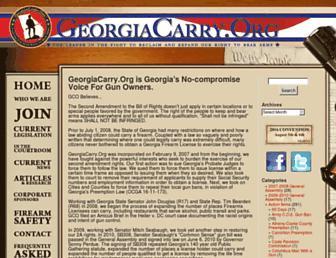 Main page screenshot of georgiacarry.org