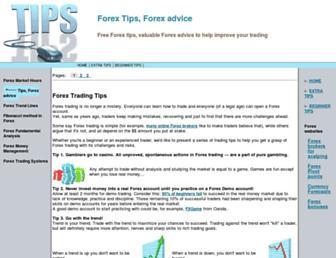 Main page screenshot of freeforextips.net