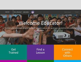 education.microsoft.com screenshot