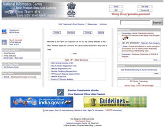 Main page screenshot of up.nic.in