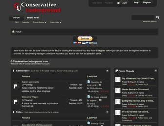 conservativeunderground.com screenshot