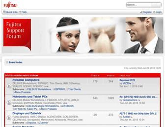 forum.ts.fujitsu.com screenshot