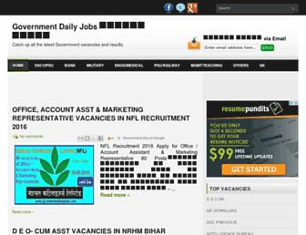 governmentdailyjobs.com screenshot
