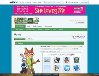 clubpenguin.wikia.com screenshot
