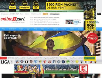onlinesport.ro screenshot
