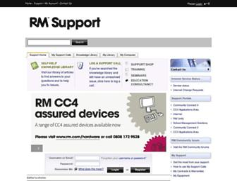 support.rm.com screenshot
