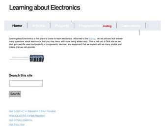 learningaboutelectronics.com screenshot