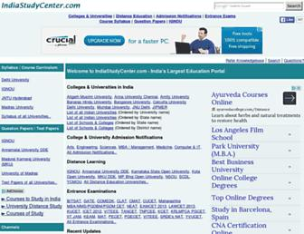 Thumbshot of Indiastudycenter.com