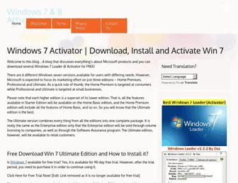 windows7activator.org screenshot